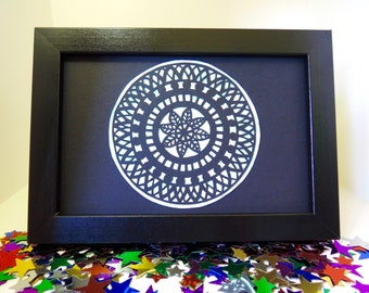 Pastel Green Papercut Mandala Original Artwork