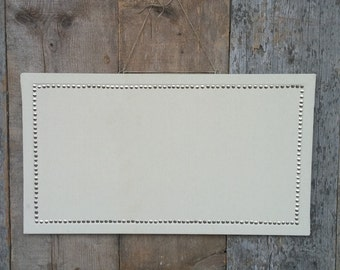 "Made to Order: Custom-sized 17x30"" Pin Board - Clean, Crisp, Natural Home Decor Fabric - Bulletin Board - Cork Board - Covered Cork Board"