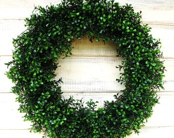 Boxwood Wreath-Fall Wreath-Winter Wreath-Large BOXWOOD Door WREATH-Home Decor-Fall Wreaths-Wedding Decor-Housewarming Gift-Scented Wreath