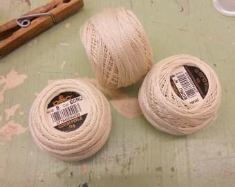 DMC Perle Cotton ball size 8 color ECRU