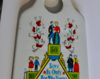 Vintage Swedish Food Grater/ Porcelain Food Grater/ Berggren Kitchen Grater/ Sweden/ Love Is Only For The Young The Middle Aged And The Old