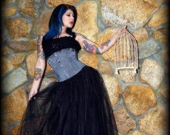 Formal floor length Black Floor Length Tulle Skirt Adult All Sizes MTcoffinz