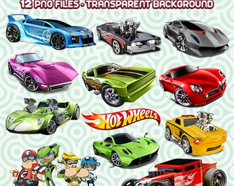 Hot Wheels PNG, Hot Wheels Clipart, Cars Images, Digital Scrapbooking, Hot Wheels Files, Instant Download 14