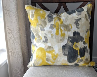 Citrine Yellow and Grey Cushion Cover.
