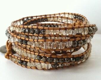 Citrine Wrap Bracelet