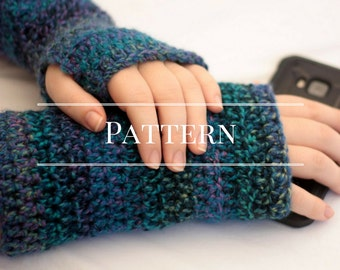 Fingerless gloves crochet pattern, easy crochet pattern,