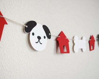 Dog houses & Bones Puppy Garland 5' Choose Colors