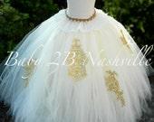 Gold Wedding Dress Tutu S...