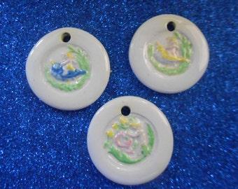 Vintage Ceramic Springtime Pendant Set (3)