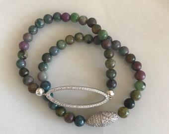 Ruby Fuschite bracelet