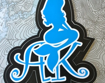 The AK MERMAID is a very popular sticker for those that love the sea.