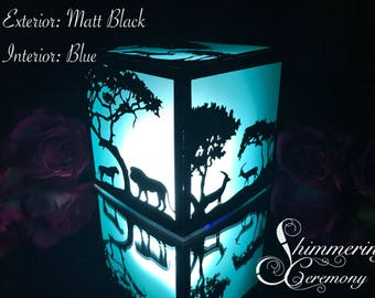 Safari Laser Cut Paper Lantern Luminary Centerpiece