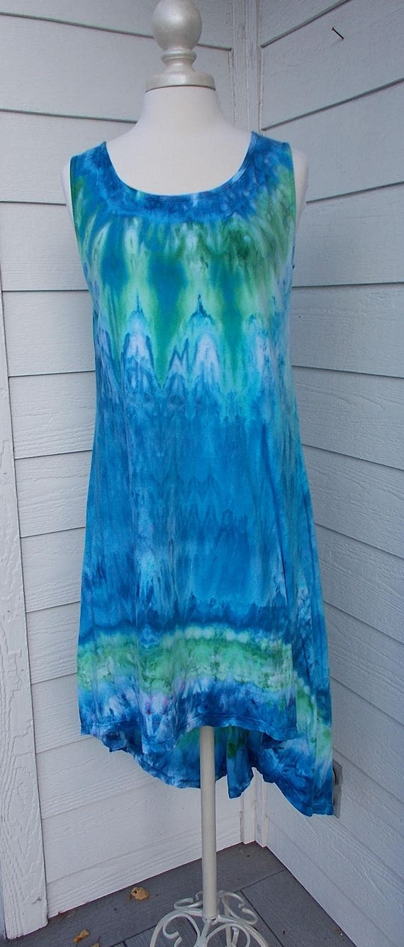 Sale! Hi-LoCotton Jersey Tank Dress Ice-Dyed