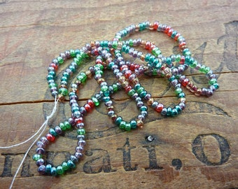 Size 8 Multi Color Luster Charlotte Seed Bead (1 Strand)