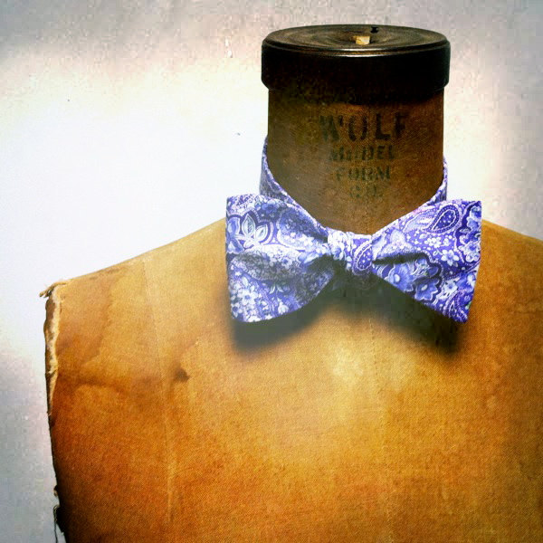 Mens / Boys Bow Tie Geek Chic Number 5 Remnant Purple