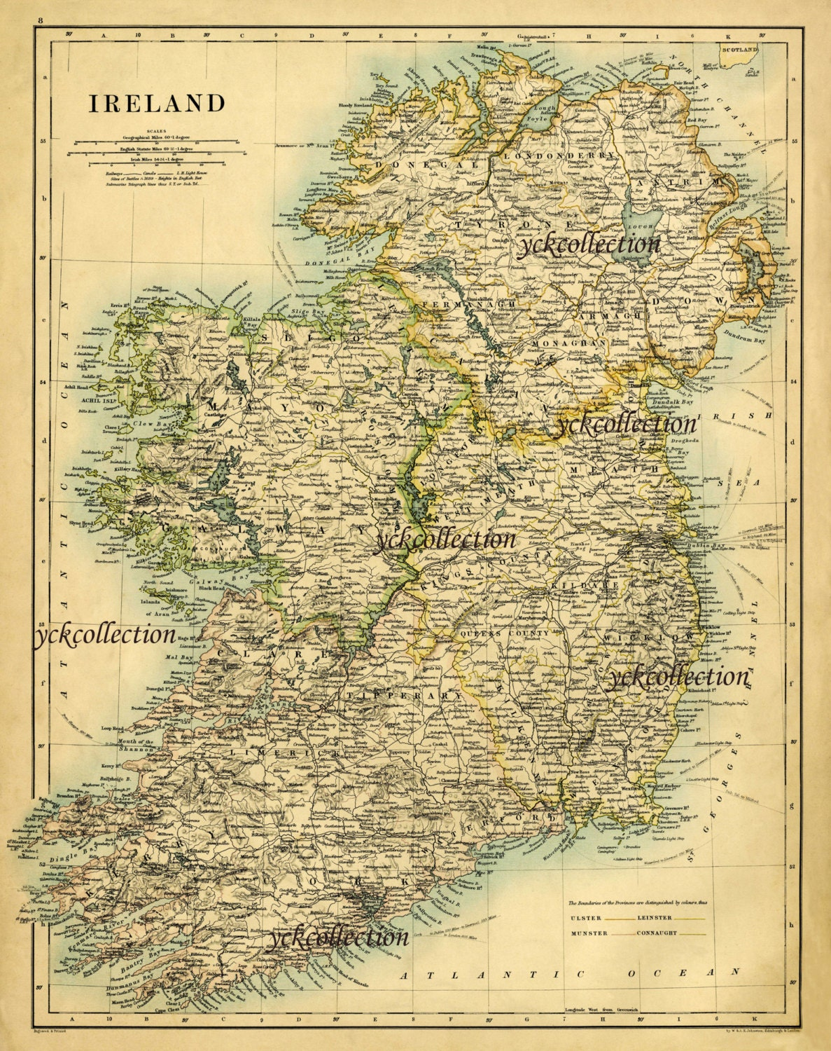 Antique Ireland Map Ultra High Resolution X To - Ireland map download