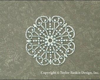 Antik Silber vergoldet viktorianischen filigranen Kreis (Artikel 305 als) - 6 Stück
