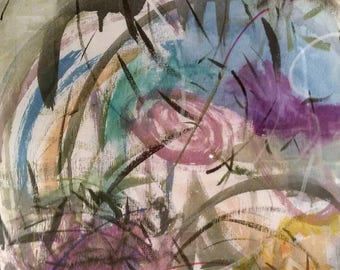 Art Print Mixed Media Collage- Abstract