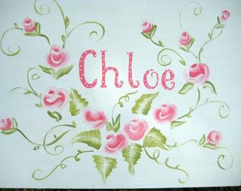 Large,Romantic Roses,keepsake box,personalized,pink roses,customized,children's box,baby's,kids,memory boxes kids boxes,baby's memory box,