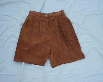 Vintage Suede High Wasted Shorts. Made in Texas. Leather