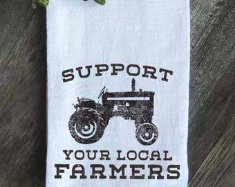Farmhouse Flour Sack Tea Towel, Farmhouse kitchen, Kitchen Towel, Farmhouse Tea Towel, Vintage Farm, Housewarming gift,