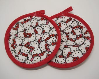 2 Hello Kitty Pot Holders