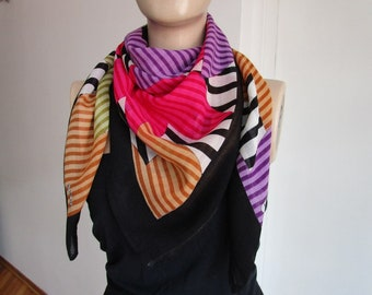 Colored Scarf, Turkish scarf, Square Scarf, Head Scarf, Stars, Yemeni Scarf, Turkish Traditional Scarf, Viscose Scarf, ColorfulStars