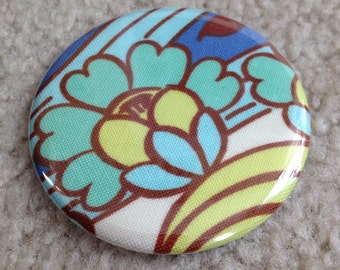 Island Girl Bags - Fabric Covered Pocket Mirror 2.25 inches