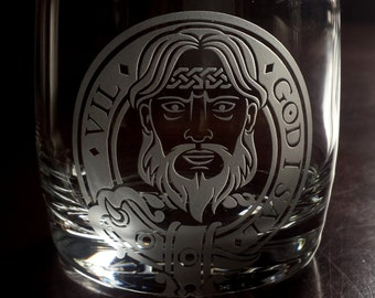 Father's Day Gift, Menzies Clan Crest, Scottish Clan Crest Whiskey Glasses, Custom Engraved for Husbands, Fathers, Brothers and Friends