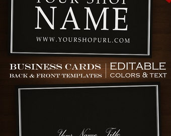 Custom Business Card Design Set- 2-Sided Foundry DIY Template Business Card Set - Clean Minimalist Simple Classic Masculine Brewing fdr