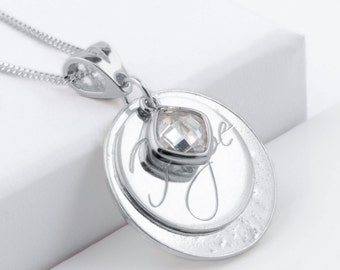 """Sterling silver memorial ashes/hair """"hope"""" necklace"""