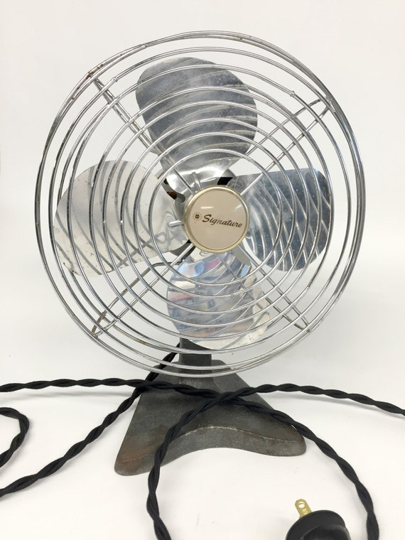 - Antique Desk Fan Signature Fan Industrial Desk Fan Mid