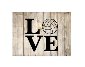 Love Volleyball vinyl car decal yeti decal tumbler decal laptop decal window decal - free shipping