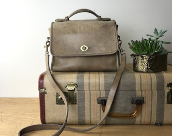 Vintage Taupe Coach Top Handle Shoulder Bag NO: 015-8120