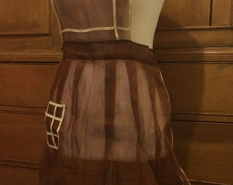 Vintage sheer apron
