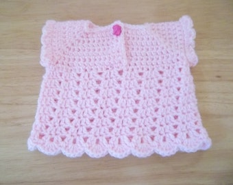 Sweater - Crochet Baby Sweater for the Summer - No Arms - Lace Pattern - Sweater for Baby Girl 3 Month