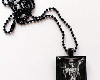 Darth Vader Heavy Metal Guitar black chain pendant necklace