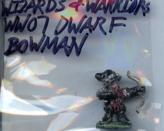 Grenadier WW07 Wizards and Warriors Dwarf Bowman Painted Metal Miniature