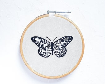Butterfly Embroidered Hoop