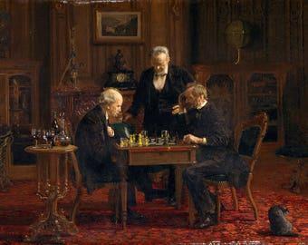 "Thomas Eakins : ""The Chess Players"" (1876) - Giclee Fine Art Print"