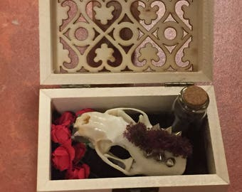 Custom decorated mink skull