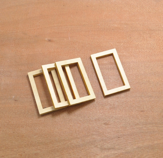 wood craft,20pcs wood rectangle hollow out wooden pendant,wood frame ...