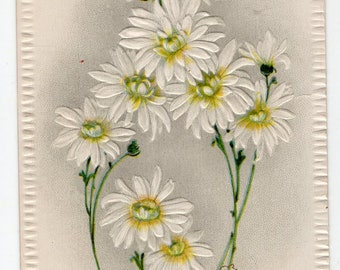 Vintage Easter Postcard, God bless thy Easter antique postcard, Easter Greetings, daisies