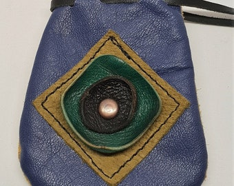 Crystal Gift Bag Talisman Pouch Amulet bag Medicine Bag Leather Pouch