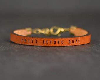 best friend bracelet   BFF gifts   BFF bracelet   best friends gift   mom friend bracelet   fries before guys   friend bracelet   friendship