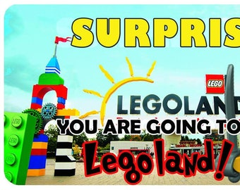 Lego Land Customizable Boarding Pass A trip Surprise Trip Ticket Printable Vacation Ticket Power Point