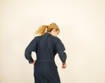 SALE - COMME des GARCONS - 1970s Denim Button Down Dress