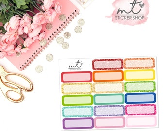 Quarter Boxes || 17 Planner Stickers || SKU 053