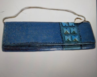 NWT-Whiting and Davis Turquoise Metal Mesh Clutch