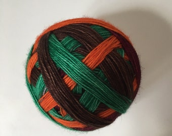 To order sock yarn: 'Pumpkin patch ' (4 colours, self striping)
